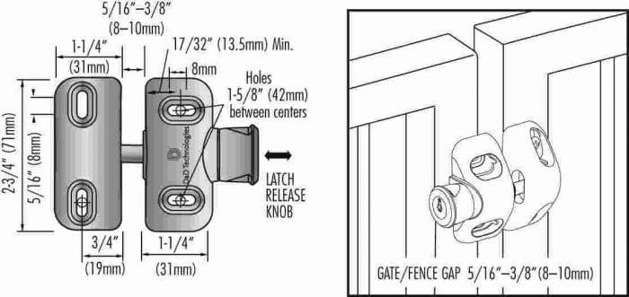 D&D Magnalatch Side Pull Gate Latch-2686