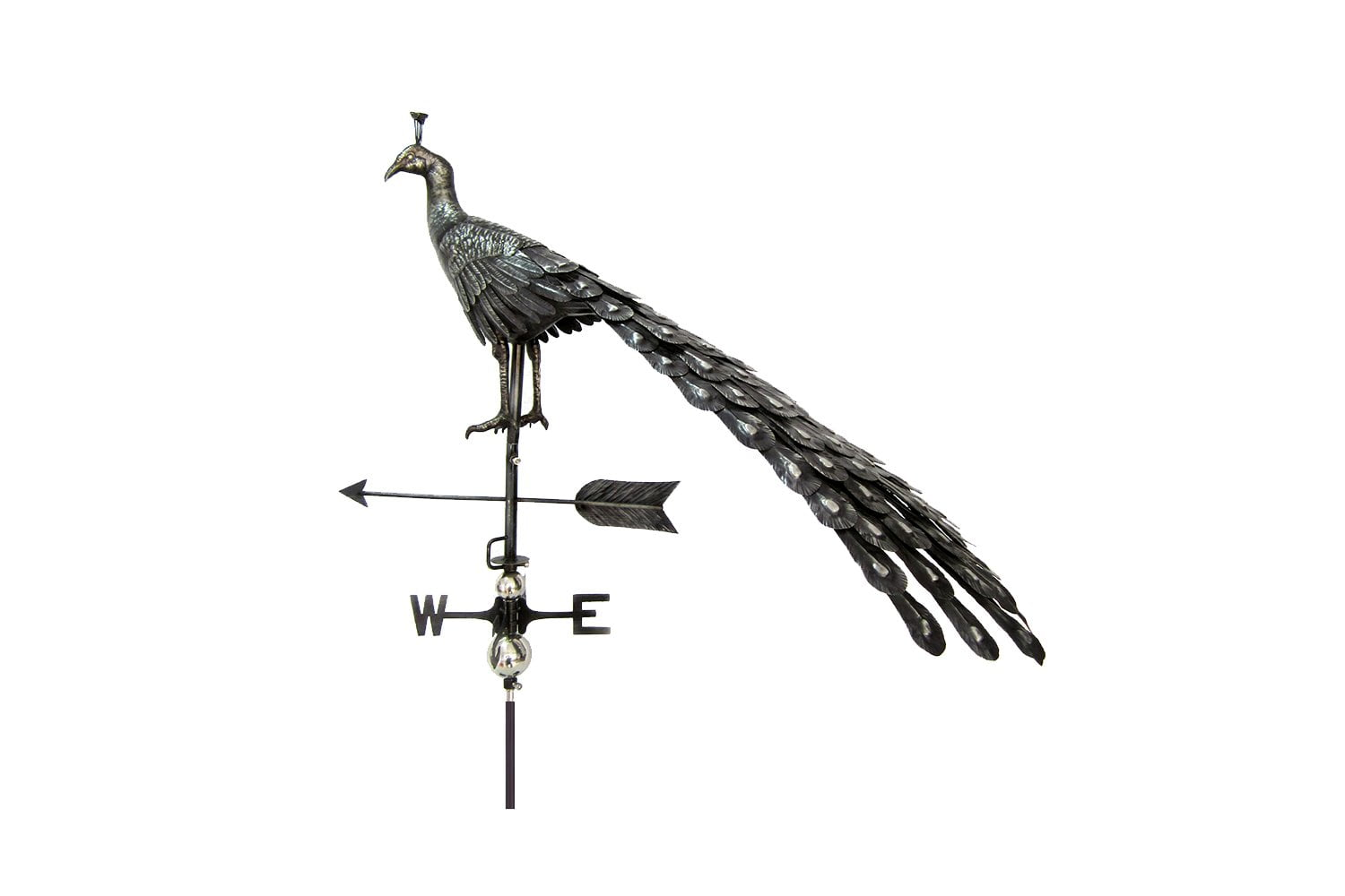 Perry Primus 3d Peacock Weathervane With Garden Stake