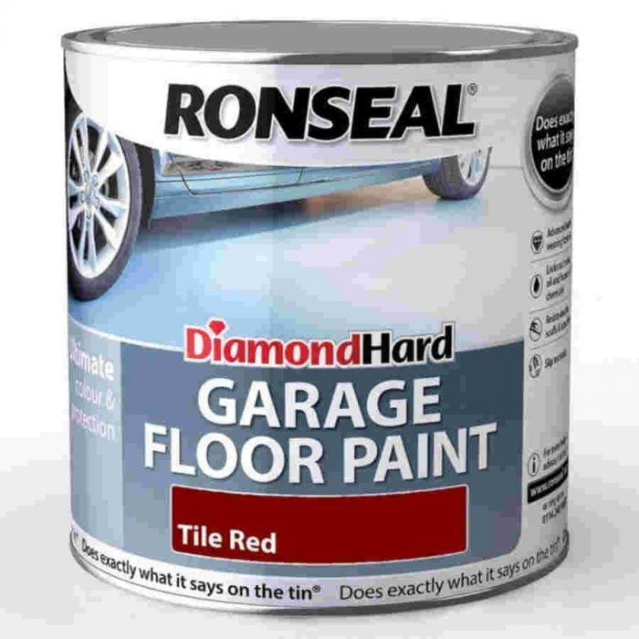 Ronseal Diamond Hard Garage Floor Paint Red 5 Litre-0