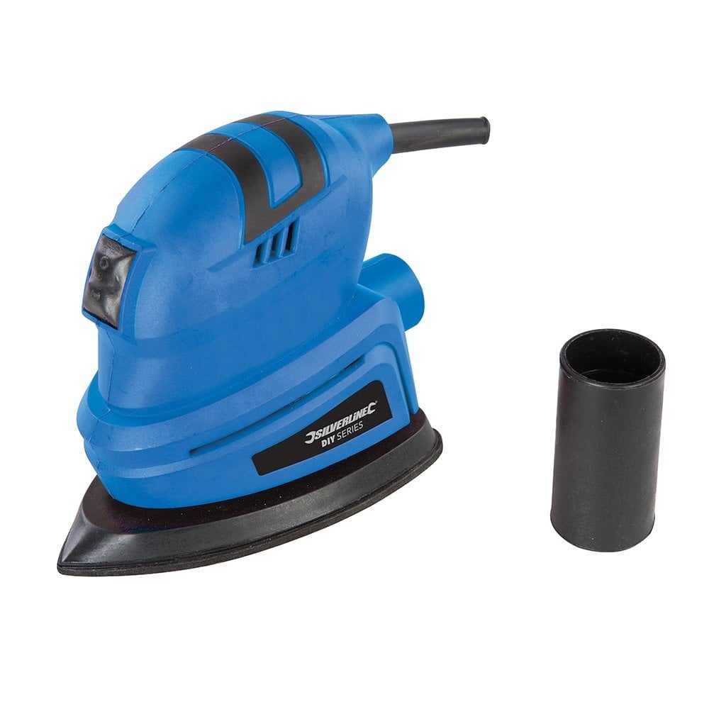 Compact Detail  Sander With Orbital Action /& Palm-Shaped Soft Grip 135W