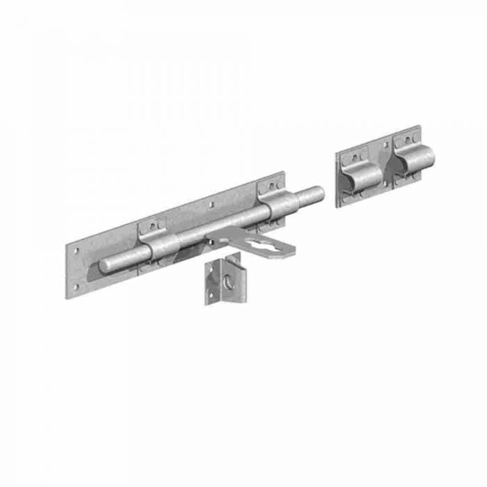 Heavy Duty Cross Pattern Door Bolts galvanised