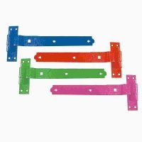 equestrian colourful cranked band and gudgeon hinges