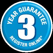 3 Year Silverline guarantee - Register online!