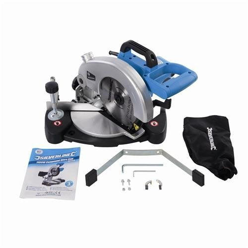 Box contents Silverline compound mitre saw