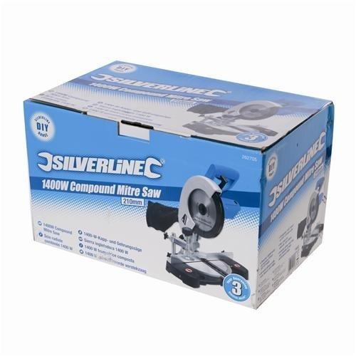 Silverline 262705 DIY 1400W Compound Mitre Saw 210mm-2315