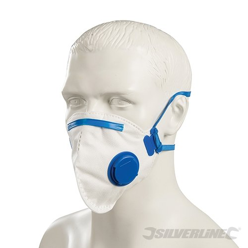 Silverline Moulded Valved Face Mask FFP2 NR Display Box 10pk-2371