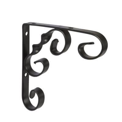Ornamental shelving bracket black 150mm