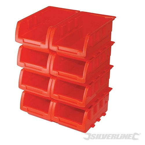 Silverline stacking boxes 8 piece set