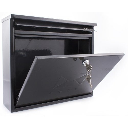 Black Sterling Elegance post box