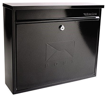 Sterling Elegance Post Box Black