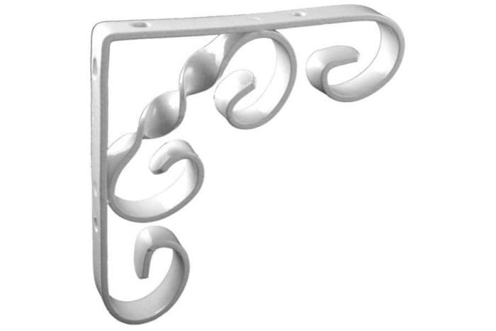 Ornamental shelving bracket white 150mm