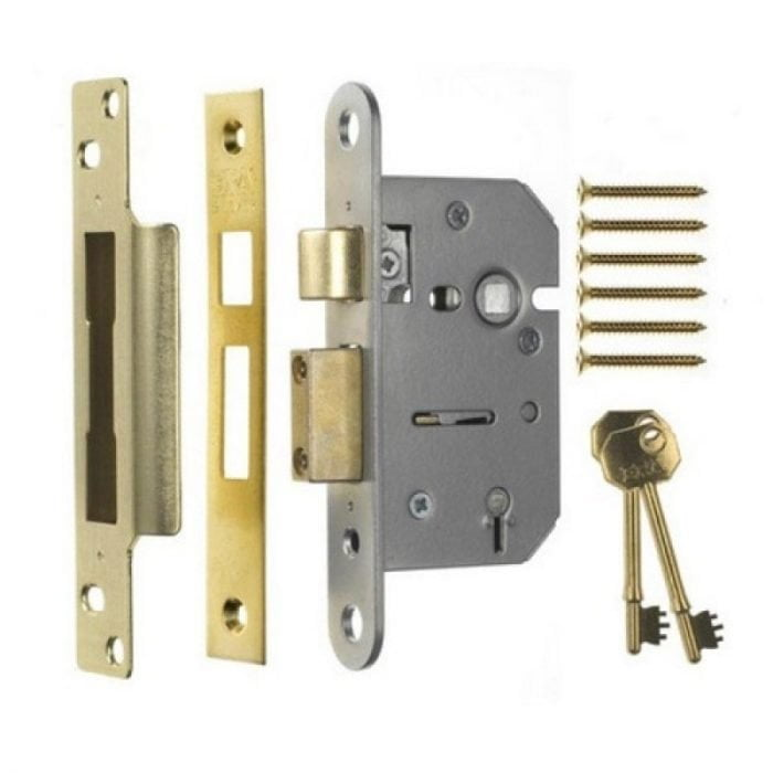 ERA 202-32 5 Lever Viscount Sashlock 67mm Polished Brass