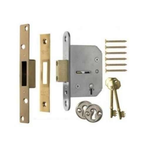 ERA 201-32 5 Lever Viscount Deadlock 67mm Polished Brass