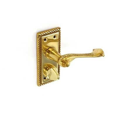 Georgian brass privacy handles by Gate Expectations