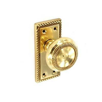 Georgian Mortice Knob Latch Brass from Gate Expectations