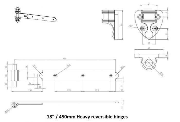 Colourful Heavy Reversible Hinges-2553