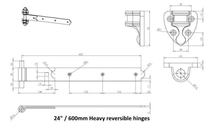 Colourful Heavy Reversible Hinges-2552