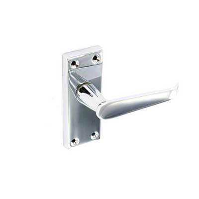 Chrome flat latch handles 115mm