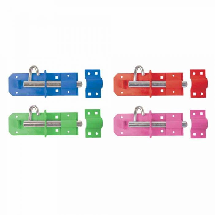 equestrian padbolts 200mm colourful