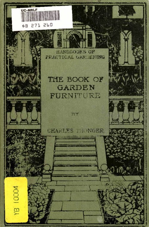 The Book Of Garden Furniture Charles Thonger 1903