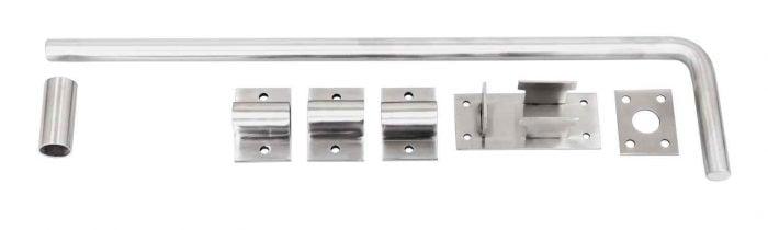 Marine grade stainless steel dropbolt 450mm / 18 inch