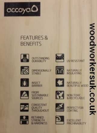 The benefits of Accoya modified softwood!