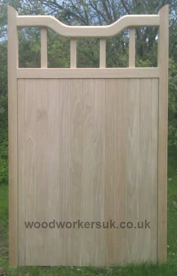 Bala wooden pedestrian gate shown in Prime European Oak - fancy this made to measure?
