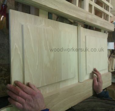 Once fitted in the gates, the panels are left loose – they are not glued or nailed in position. By not fixing them down, they are allowed to move (the natural movement of timber!) – by allowing them to move freely you reduce the chances of the panels splitting.