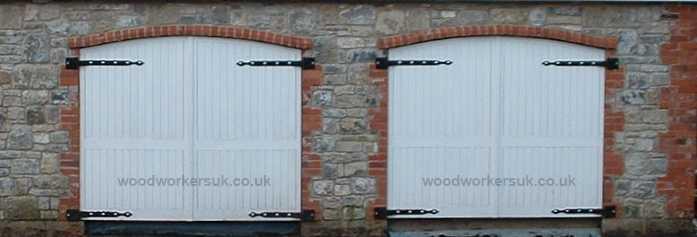 Bespoke curved top garage doors