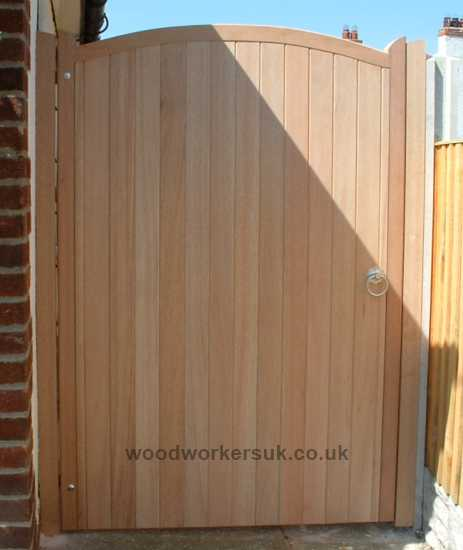 Our Curved headed pedestrian gates, head rises as standard 3 inches/75mm. This rise can be customised.