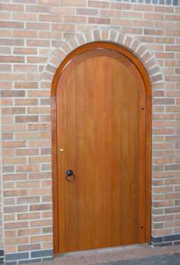 Our semi circular arched gate as a postern gate with frame