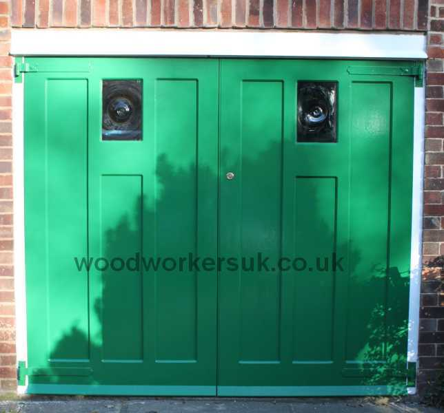 Replacement garage doors faithful to the old design