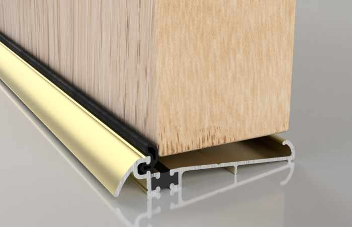The Stormguard slimline wide thermal break threshold is available in an inward or outward opening option