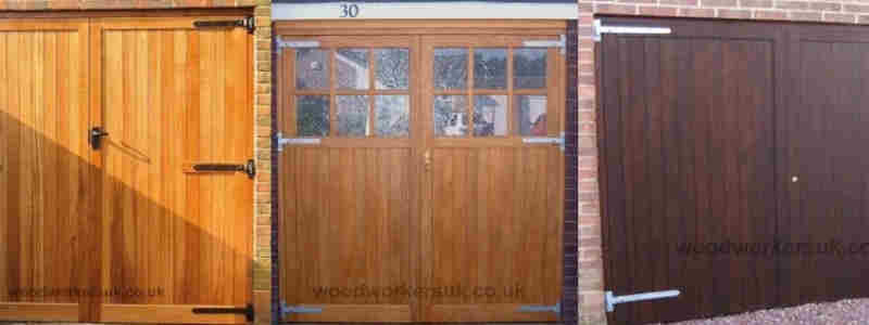 Wooden garage doors made to measure in a variety of styles and timbers