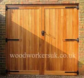 Our Alyn garage door in Idigbo (Hardwood)