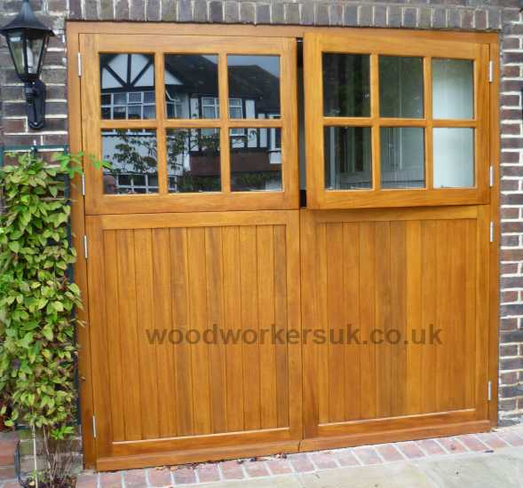 All our garage doors can be customised, here a pair of our Conway have been made as a pair of stable type doors