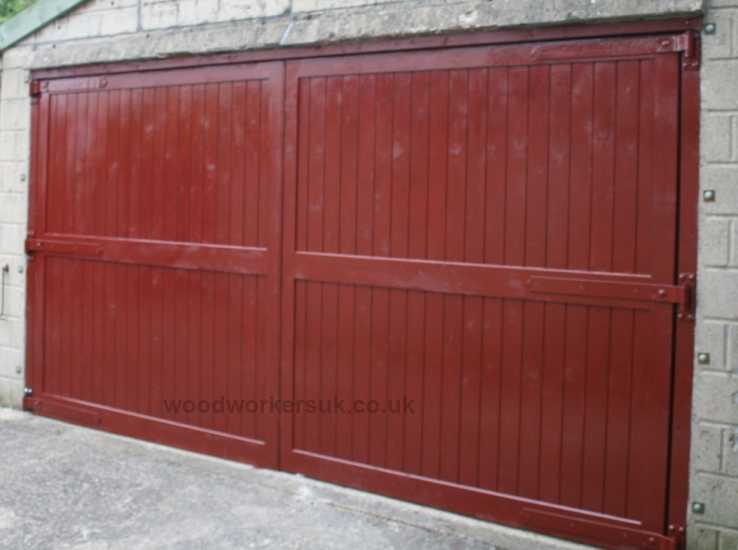 A pair of our Menai garage doors in Softwood, the doors shown hereare quite large but we can make them to whatever size you need!