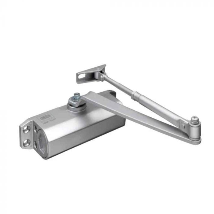 Union CE3F Fixed Size 3 Rack & Pinion Door Closer Silver
