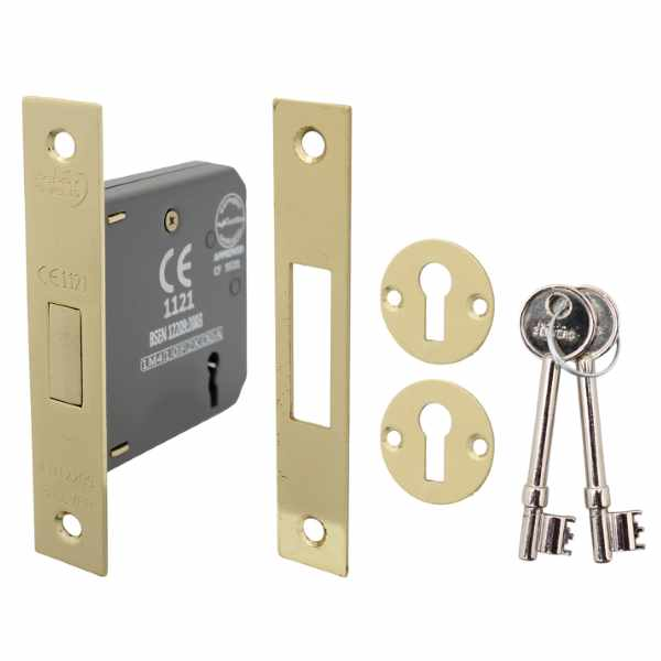 Perry Shield CE Certifire 3 Lever Deadlock with Removable Plate - FD60