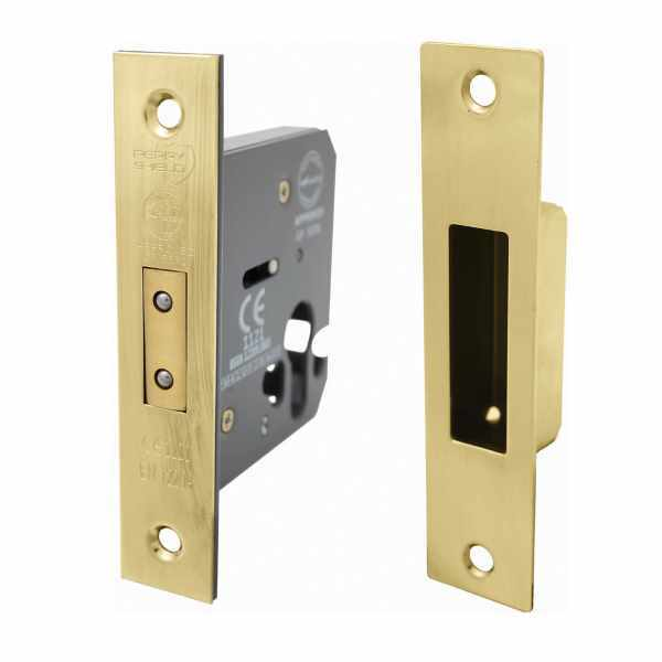 Perry Shield CE Certifire Cylinder Mortice DeadLock (Euro Profile) - FD60