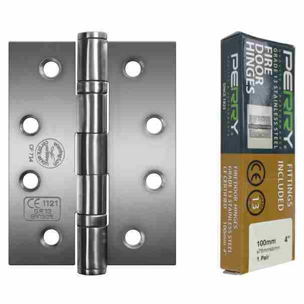 Perry Shield CE13 Certifire Stainless Steel Ball Bearing Fire Door Hinges