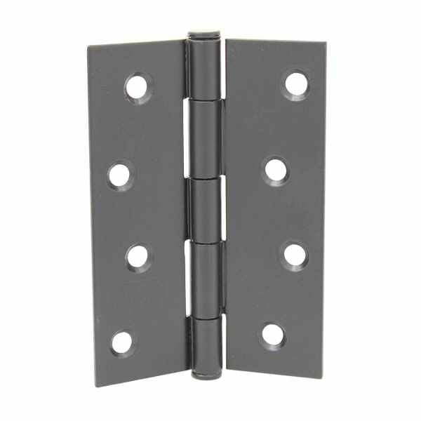 Perry Shield Grade CE7 Certifire Fire Door Butt Hinge with Button Tip Pin 100mm Black