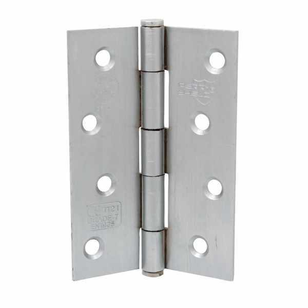 Perry Shield Grade CE7 Certifire Fire Door Butt Hinge with Button Tip Pin 100mm Polished Chrome