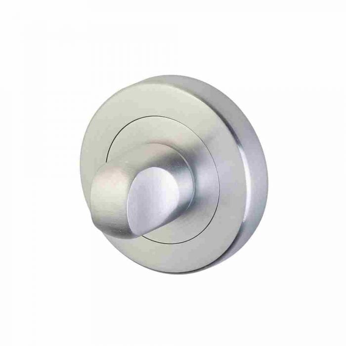 Horizon 50mm thumb turn and release on round rose satin chrome