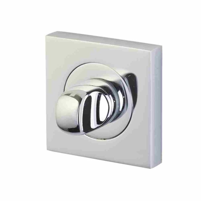Perry Horizon thumbturn and release on 50mm square rose polished chrome