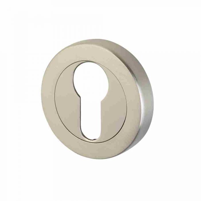 Perry horizon 50mm round escutcheon euro lock polished chrome