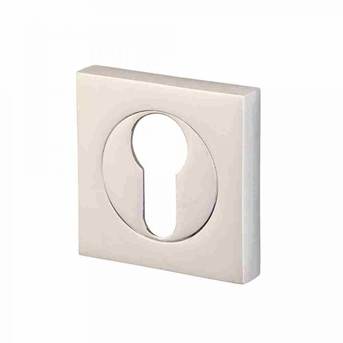 Perry horizon 50mm square escutcheon euro lock polished chrome