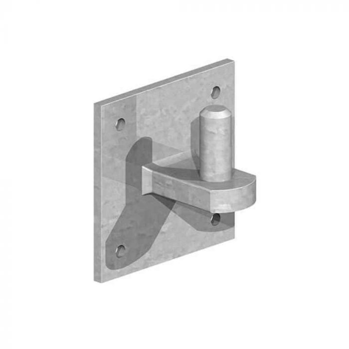 19mm hinge pin on 100mm square plate galvanised