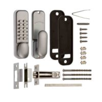 ERA 300-35-1 Digital Lock Satin Chrome With Holdback