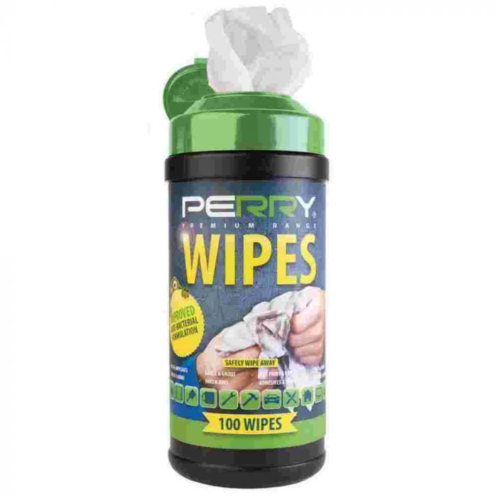 Perry Premium Range Anti-Bacterial Wipes Tub of 100 Wipes